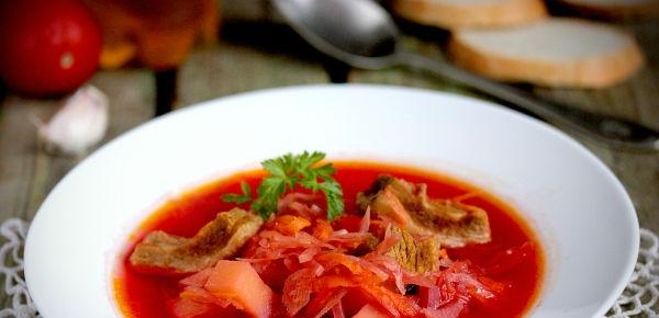 Рецепт приготовления борща со свеклой и капустой