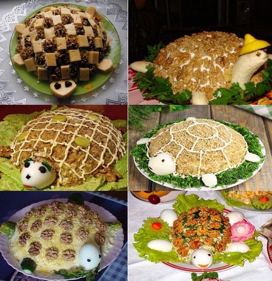 Салат черепаха рецепт классический рецепт фото