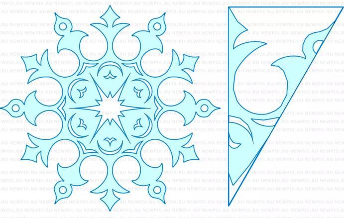 Новогодние снежинки из бумаги своими руками схемы 51