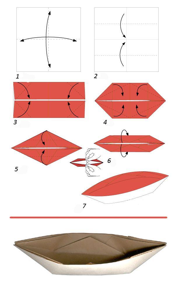 Кораблики поделки из бумаги своими руками 50