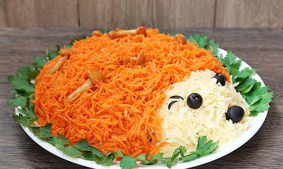 salat-ezhik-s-kuritsey