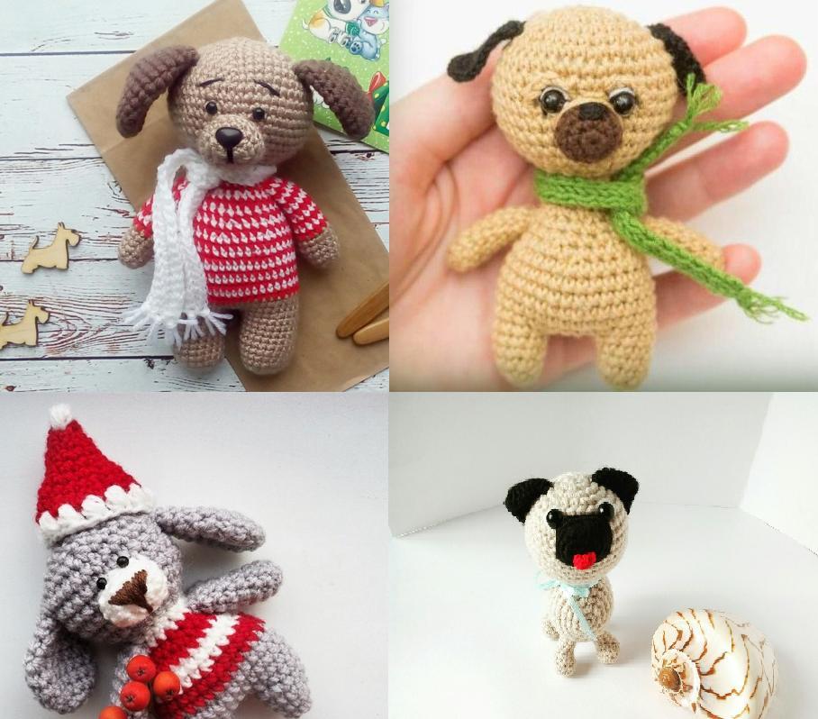 амигуруми вязание крючком игрушки собачки в стиле амигуруми со