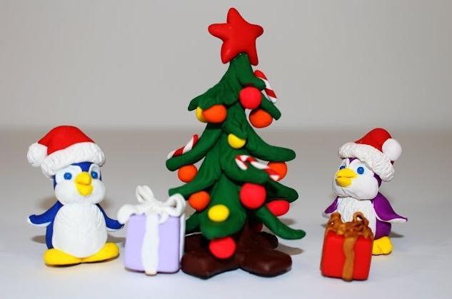 3igrushku-iz-plastilina Елочные игрушки своими руками на елку 2019 с созданием декора