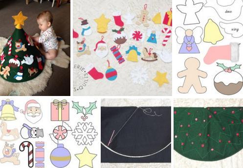 igrushku-1 Игрушки на елку из фетра (73 фото): новогодние елочные украшения своими руками, простые шаблоны собак и оленей