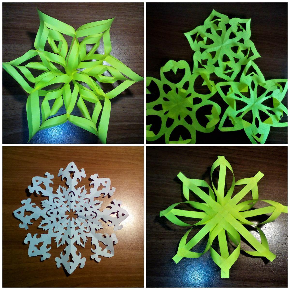 Снежинки из бумаги своими руками которые объемные