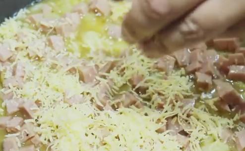 Овощной омлет на хлебе в духовке - рецепт пошаговый с фото