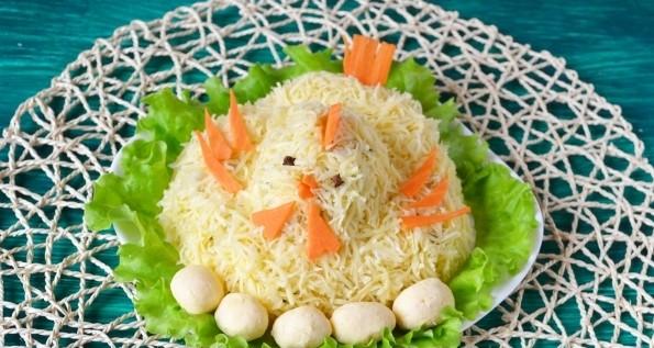Рецепт 1, пошаговый: пасхальный салат кулич внешний вид этого.