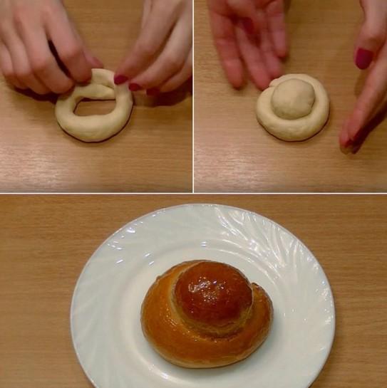 Булочки — варианты лепки и сворачивания булочек при разделке теста