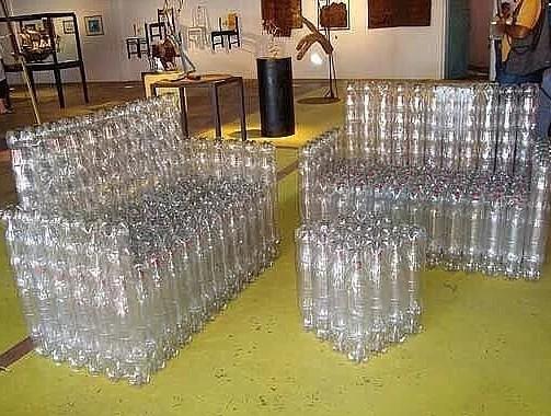 Красивые поделки из бутылок