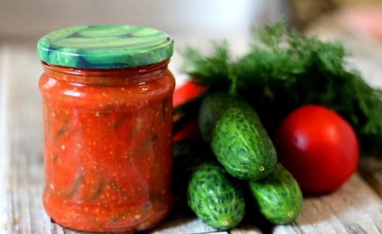 Огурцы в томате на зиму простые рецепты