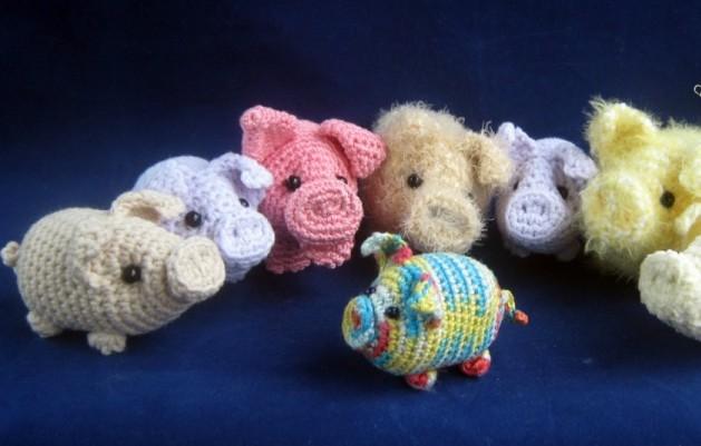 Вязаные свинки (хрюшки) крючком со схемами и описаниями. Мастер-классы игрушек амигуруми для начинающих