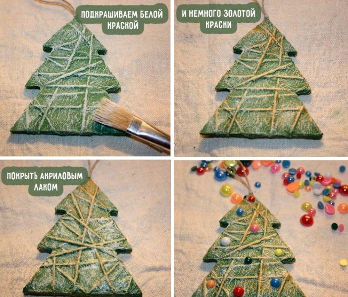 Изготовление новогодней игрушки своими руками