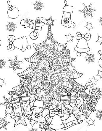 раскраски на новый год для детей можно скачать и
