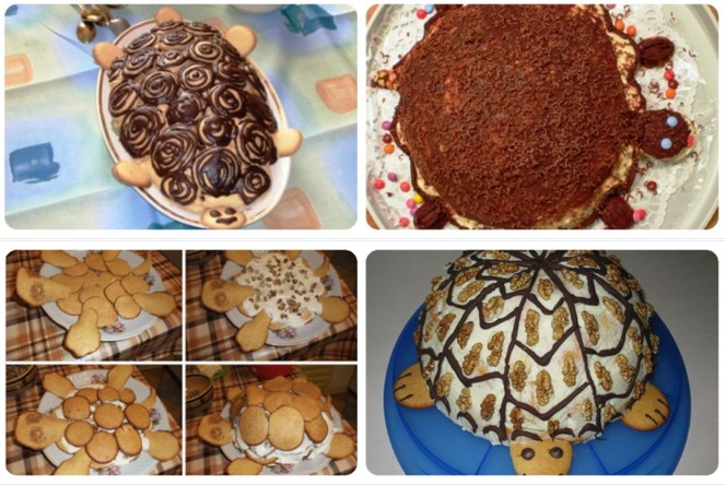 как красиво сделать торт черепаха фото футбол