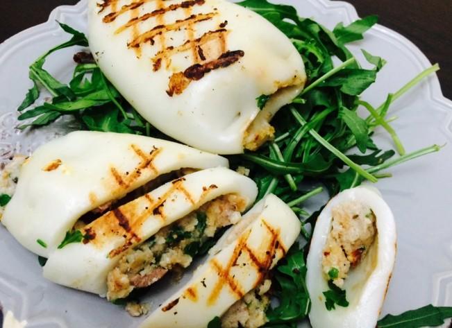 Фаршированные кальмары — самые вкусные рецепты приготовления