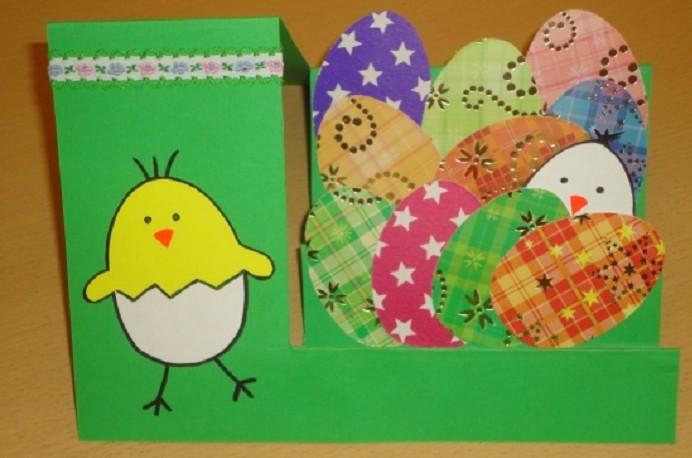 Открытка на пасху своими руками из бумаги детский сад