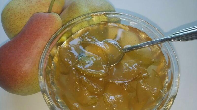 Янтарное варенье из груш дольками - рецепт пошаговый с фото