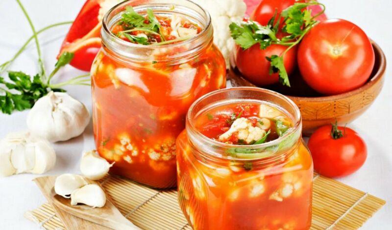 Салат из цветной капусты на зиму: 5 простых и вкусных рецептов