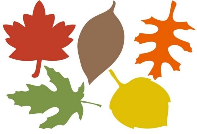 Листья для открытки шаблоны цветные