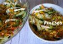 Салаты с капустой и кукурузой