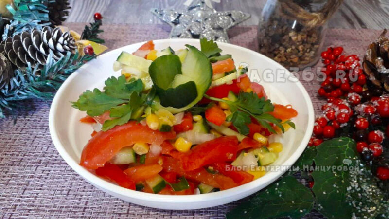 Салаты на Новый год 2021 без майонеза — рецепты безумно вкусных салатов