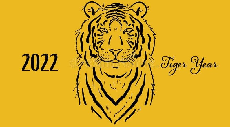Трафареты (вытынанки) тигра для вырезания на окно из бумаги на Новый год 2022
